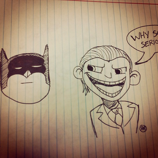 This Is A Doodle I Did A While Back Batman Joker Cartoo Flickr
