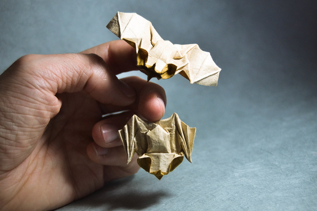 ... Origami Tent Bats - Bernie Peyton | by Masamune81 & Origami Tent Bats - Bernie Peyton | Here with a sleeping oneu2026 | Flickr
