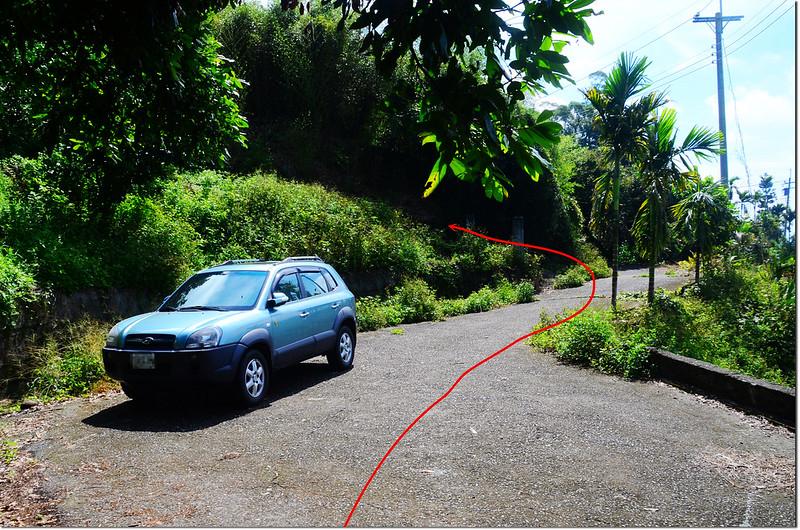 濁水山停車處及登山口