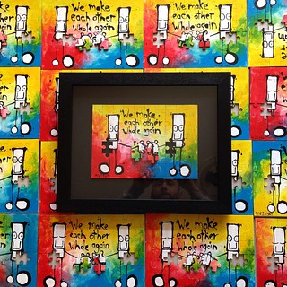 I'll be releasing an edition of 20 hand painted Everyman jigsaws tomorrow at 9am bst via my website (see my profile for link). Each one professionally framed and delivered in time for valentines day. #valentine #valentinegift #everyman #mydogsighs | by my dog sighs