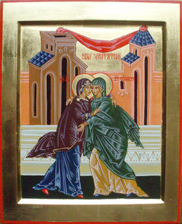 2014 Icône de la Visitation - The Visitation Icon - Main de - Hand of  père Jean El Muir | by Périchorèse-iconographie