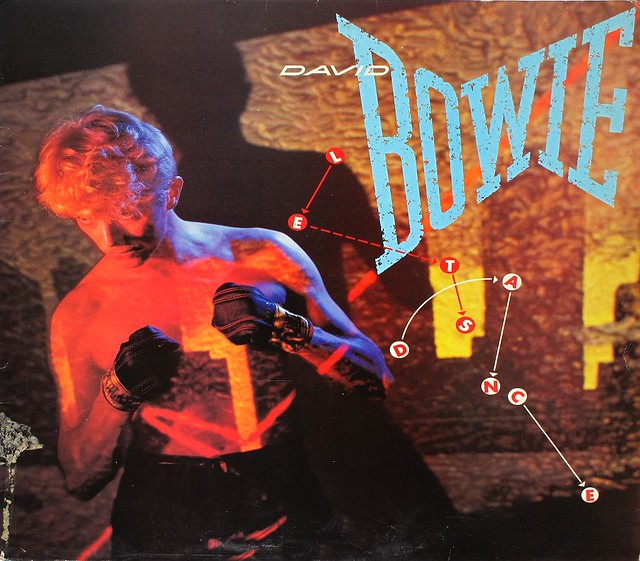 "DAVID BOWIE LET'S DANCE LYRICS SLEEVE 12"" LP"