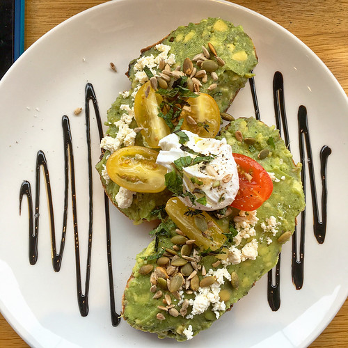 Smashed avocado on toast for breakfast at Urban Providore in South Yarra | by ultrakml