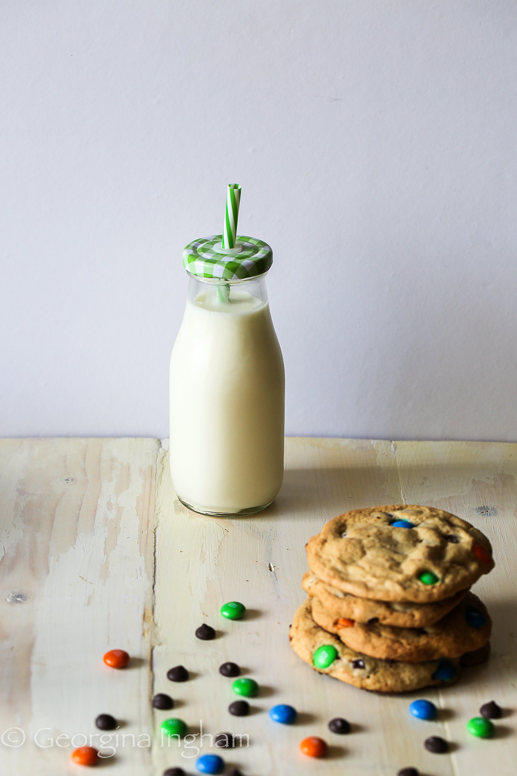 Georgina Ingham | Culinary Travels M&M Cookies with Milk