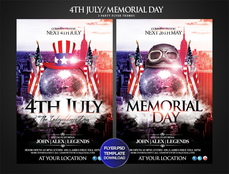 Th July Memorial Day Party Flyer Template  You Can Downlo  Flickr