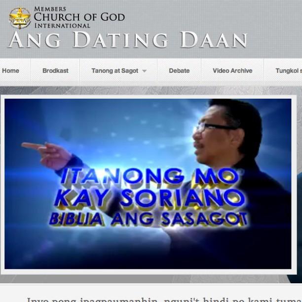Ang dating daan org debate