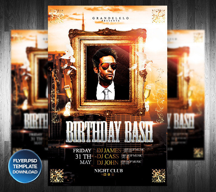 birthday bash flyer template you can download the template flickr