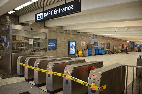 Civic Center BART station on first day of strike | by Steve Rhodes