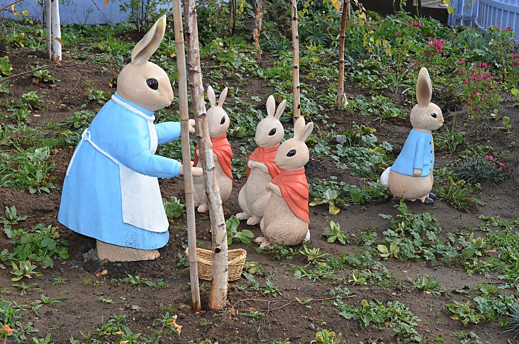 Peter Rabbit Garden figurines Riversdale Estate Flickr