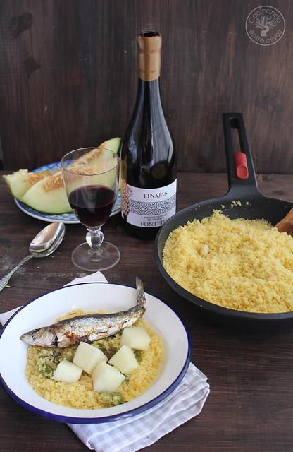 Migas de semola con melon y sardinas (3)