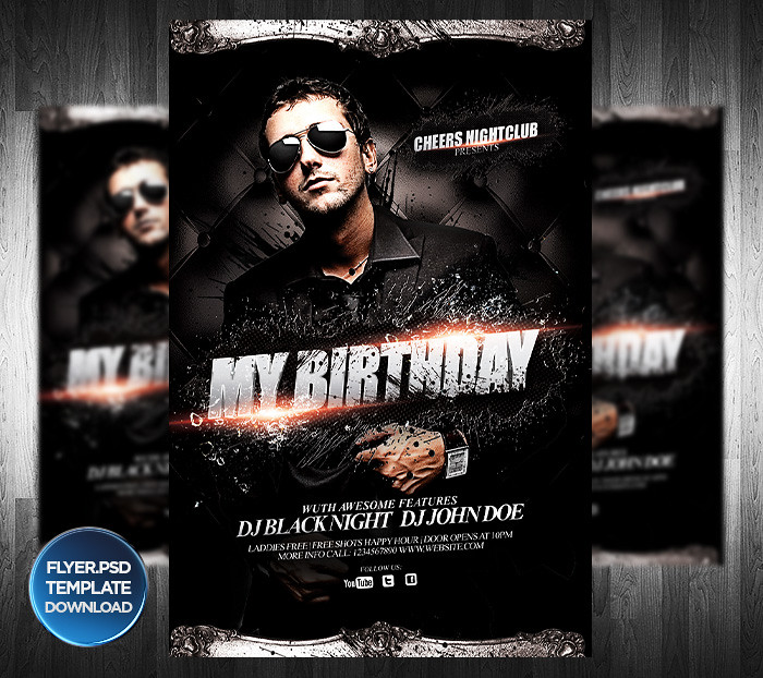 Dj Or Birthday Party Flyer Template  You Can Download The T  Flickr
