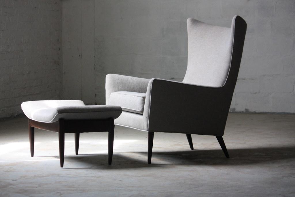 Beautiful ... Magical Paul McCobb Mid Century Modern Wing Chair U0026 Ottoman  (U.S.A.,1960s) |