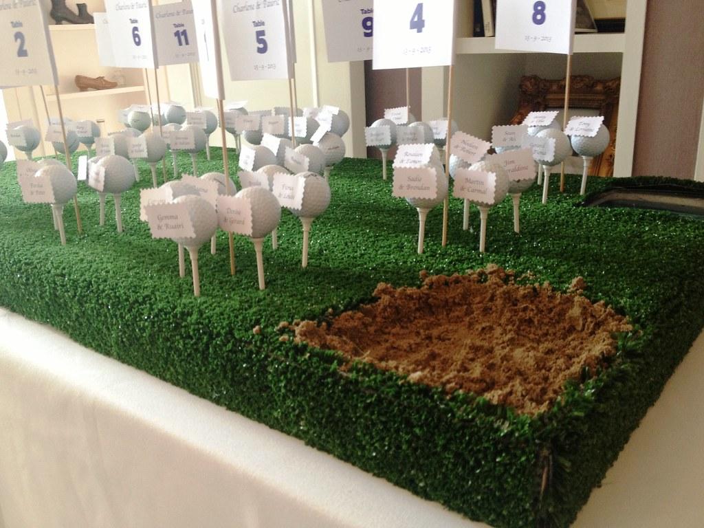 Golf Themed Wedding Table Plan Charlene Paurics Wedding Flickr