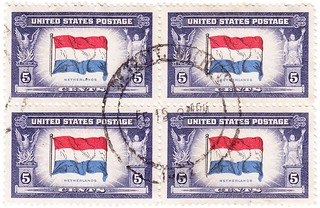 5¢ Netherlands Occupied Nation Canceled Block of Four | by sjrankin