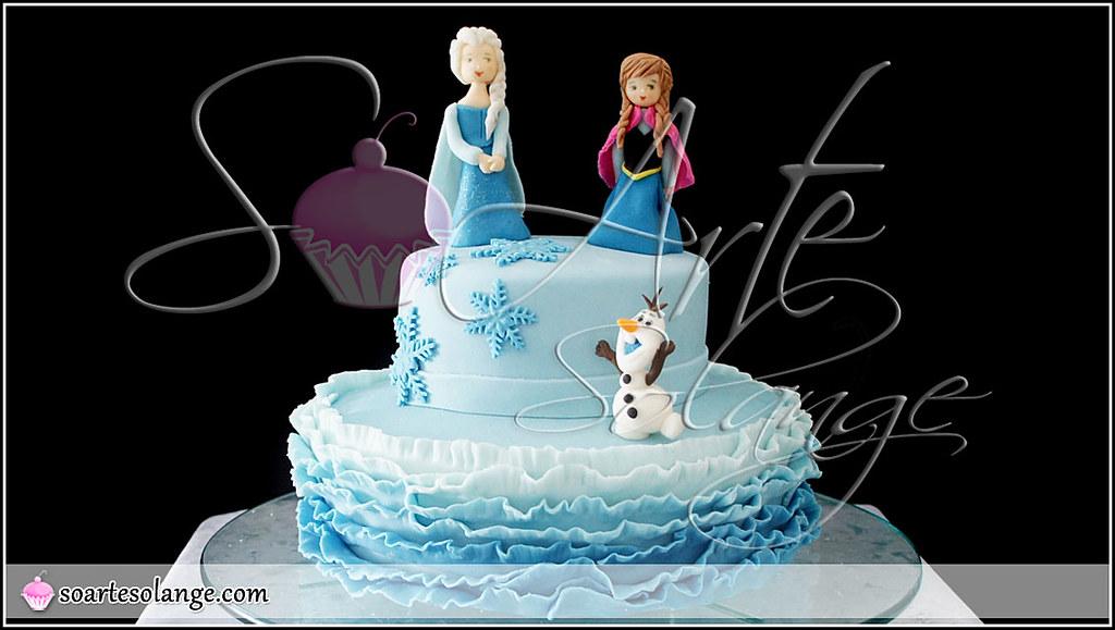 Bolo Decorado Frozen Uma Aventura Congelante Www Soartes Flickr