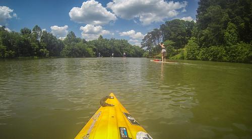 Kayaking and SUP on Saluda Lake-72