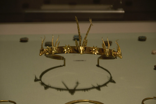 Diadem with Gazelles, a Stag and Flowers