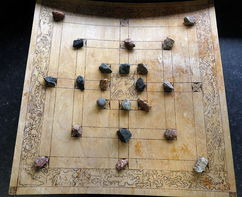 A game in the museum at the medieval castle of Carrickfergus along the Coastal Causeway Route of Ireland, UK