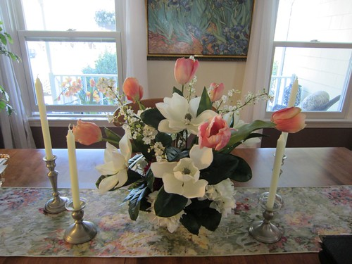 Dining Room Table Flower Arrangement Barbara Wernli
