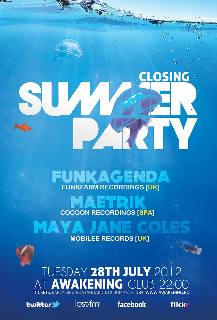 Summer Party Flyer Poster Template