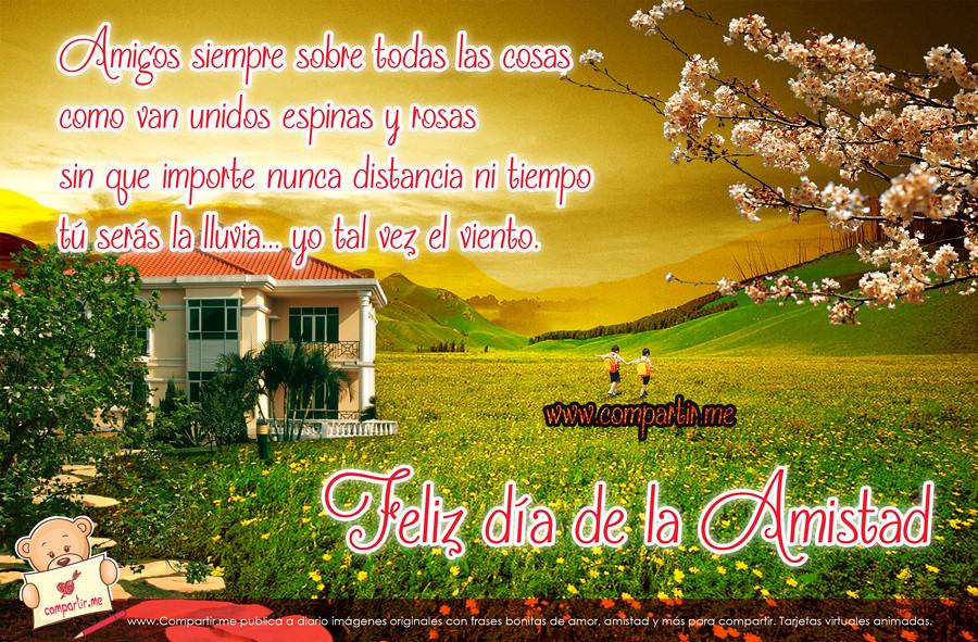 Frases De Amor Tarjeta Con Poema Por El Dia De La Amistad Flickr