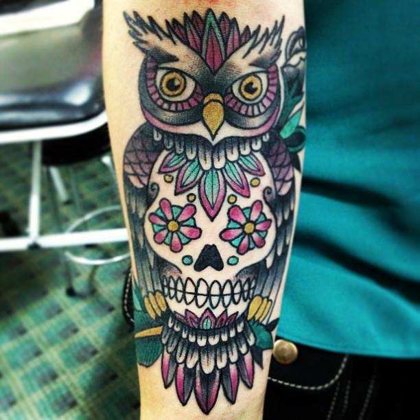 Semana De Los Búhos En Delavidatattoo Búho Owl Tattoo Flickr