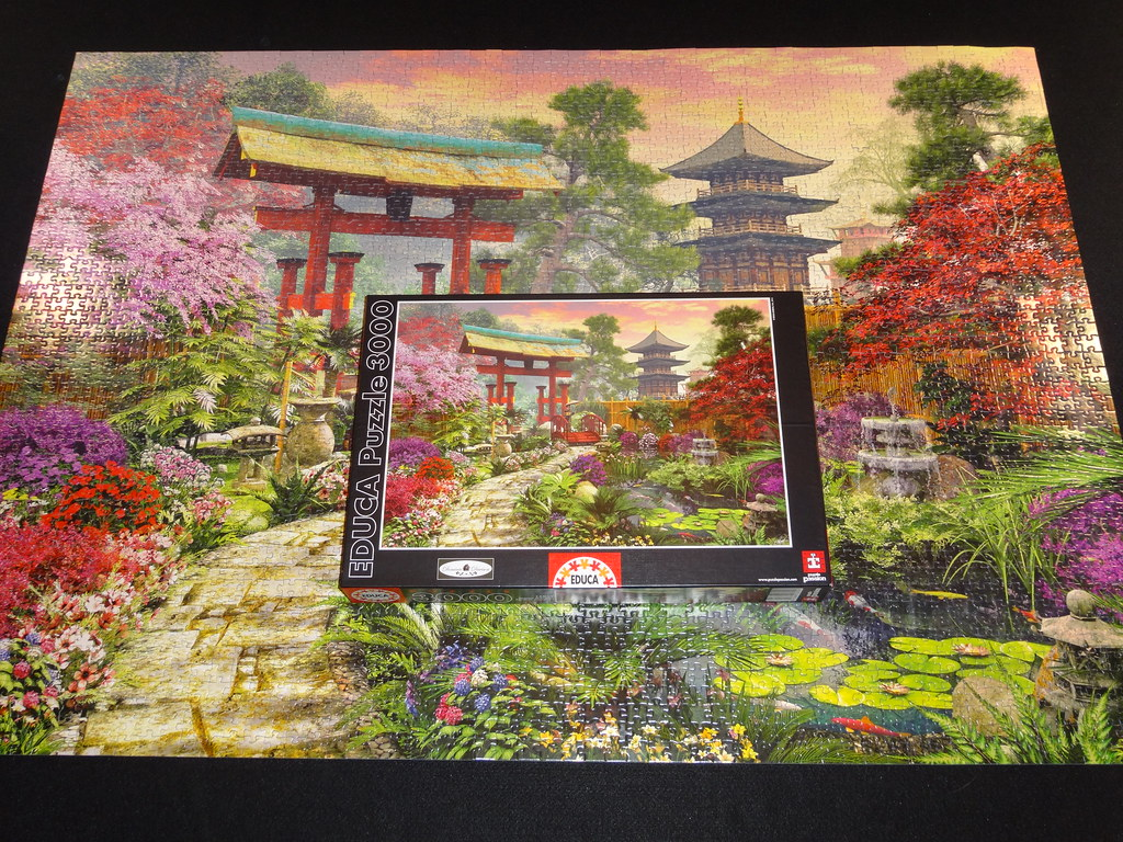 3000 piece Educa Japanese Garden Jigsaw Puzzle TMartian300 Flickr
