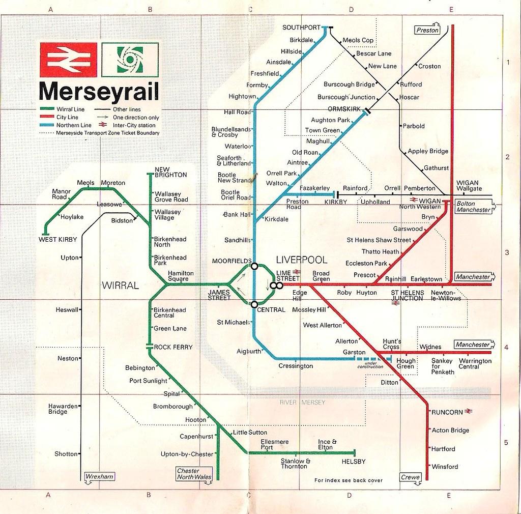 1981 Merseyrail Map Luke David ORourke Flickr