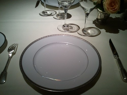 Table set at l'Ambroisie | by Inspirational Food
