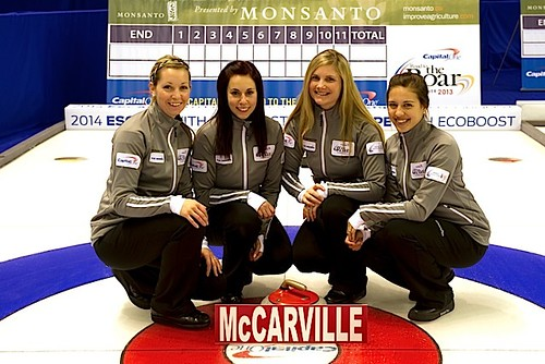 Team McCarville — Fort William Curling Club Thunder Bay, Ont.Krista McCarville, Ashley Miharija, Kari Lavoie, Sarah Potts, Tirzah Keffer (alternate), Richard Hart | by seasonofchampions
