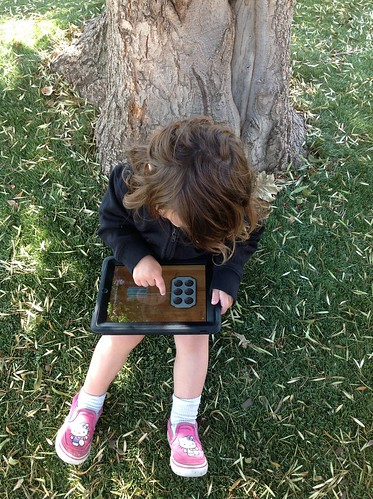 Kid iPad outside | by alicegop