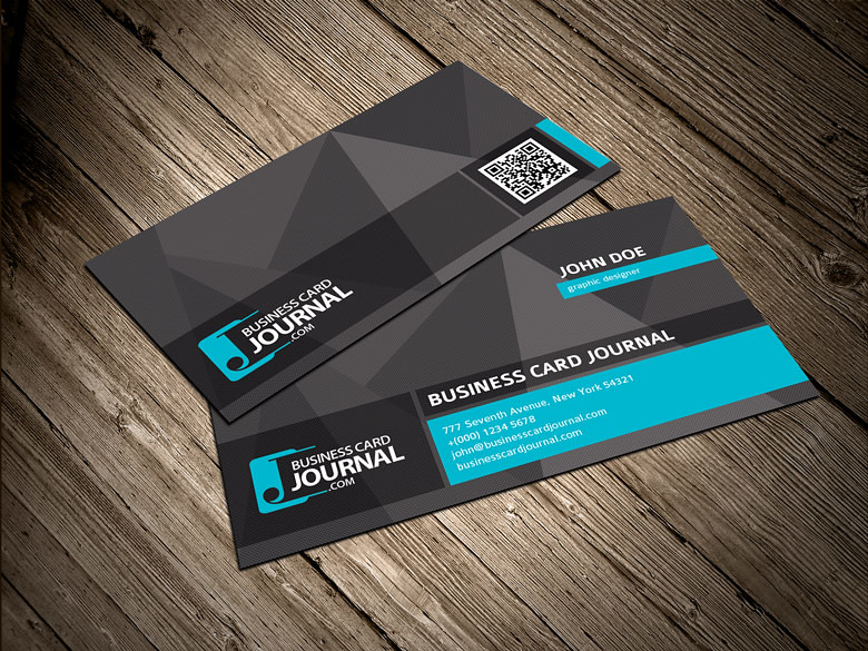 Cool Unique Business Card Template With Qr Code Download Flickr