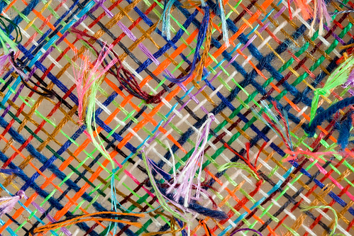 Fluorescent ort loom (weaving detail) | by Unhindered by Talent