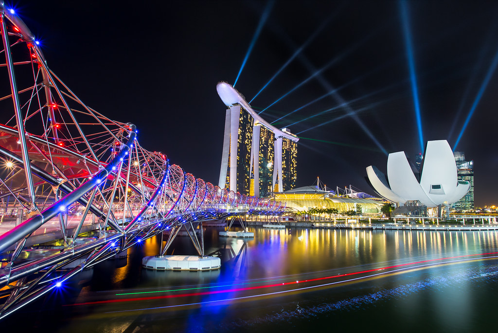 marina bay sands light show do check out and support my fa flickr