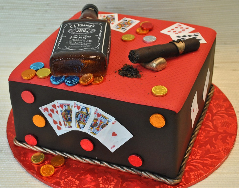 Jack Daniels Bottle Cigar Poker Birthday Cake The Cake Flickr