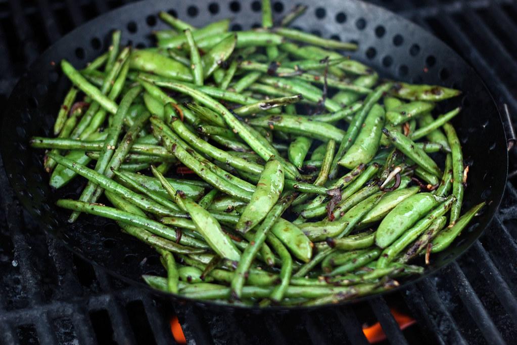 Grilled Asian Green Beans - Gluten-free + Vegan | tasty-yumm