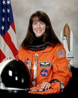 Astronaut Janet L. Kavandi, STS 104/ISS Assembly Flight 7A mission specialist, NASA photo (July 2001) 9789456355_dff76f34b3_n.jpg