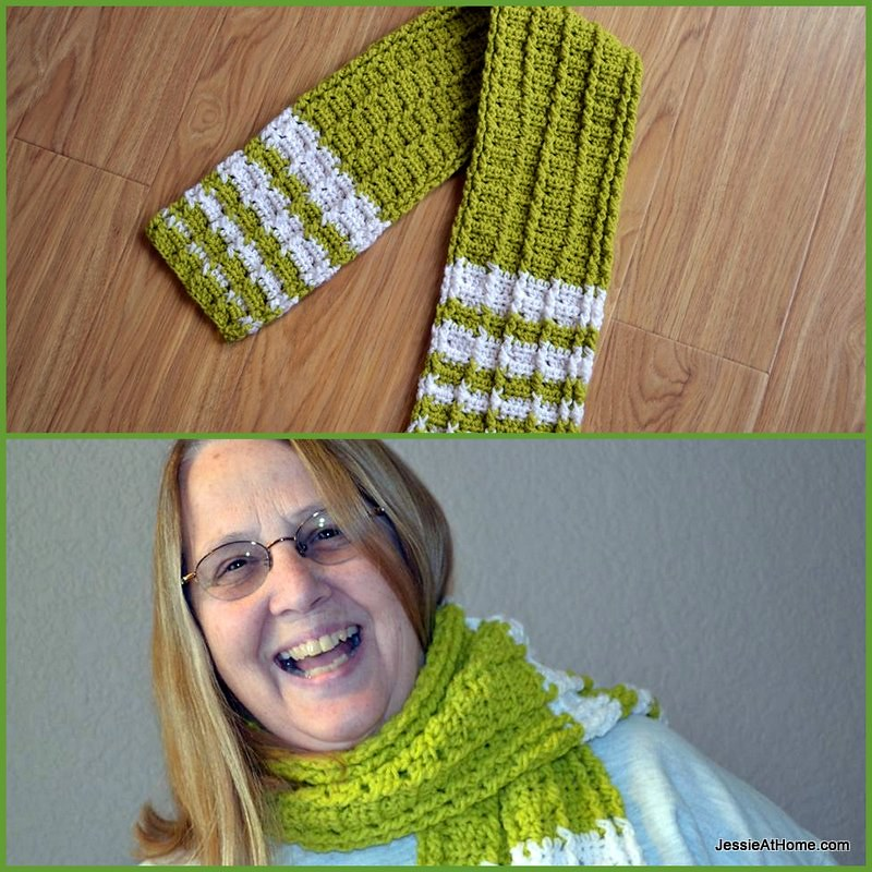 Raised Stripes Scarf Free Crochet Pattern Raised Stripes S Flickr