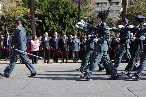 La guardia civil iza la bandera nacional en valencia con m for Ministerio del interior guardia civil