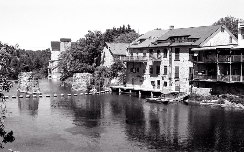 Grand River Through Elora