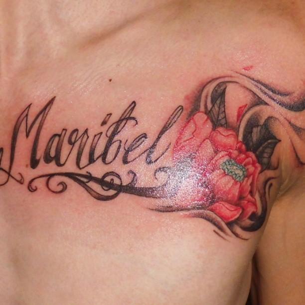 Diseo de letras y rosa tattoo diseo GART LEVEL Flickr