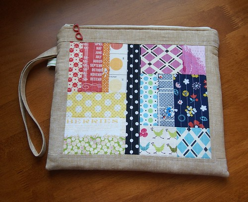Patchwork Pouch | by fabricmutt