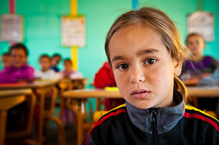 First grade student at the elementary school in the village of Ait Sidi Hsain | by World Bank Photo Collection