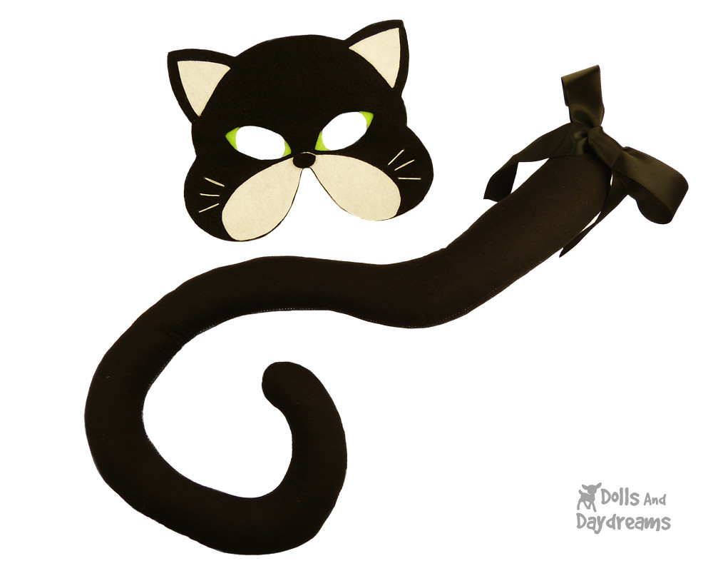 cat mask tail sewing pattern halloween black copy | sarah | flickr