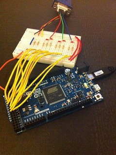 Arduino Due VGA Out Prototype | by gadgetoid