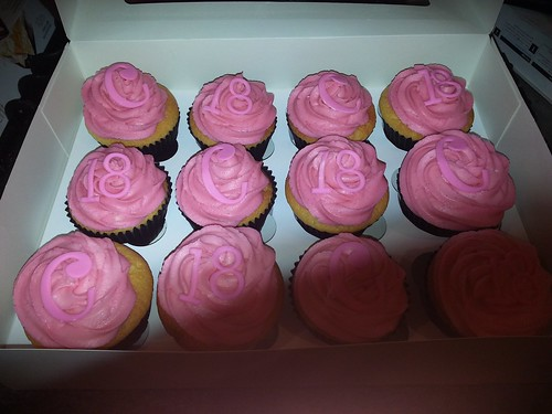 18th birthday pink cupcakes | by platypus1974