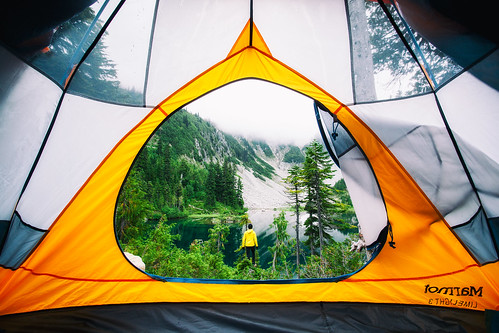 Tent Photo at Snow Lake in Mt Rainier National Park by Michael Matti | by Michael Matti