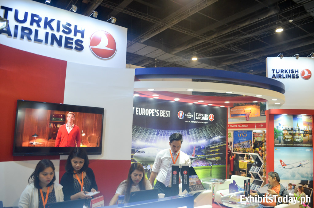 Turkish Airlines Exhibit Booth (front)
