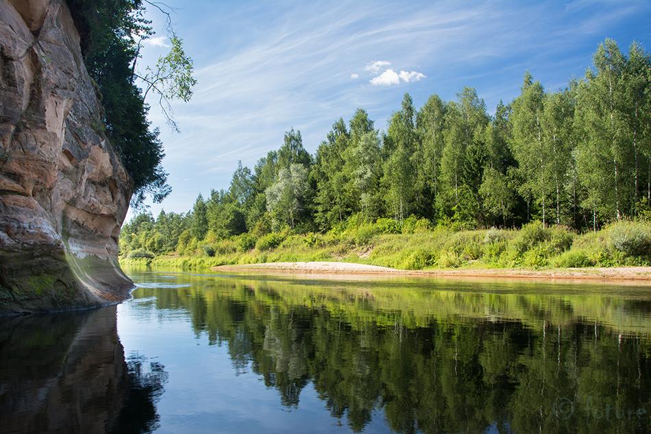 Ergelu, Cliffs, Erglu, Cesis, Latvia, Võnnu, Gauja, Koiva, river, sandstone, Kaido Rummel