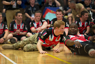 Prince Harry plays sitting volleyball with wounded warriors, Misty May-Treanor [Image 2 of 7] | by DVIDSHUB